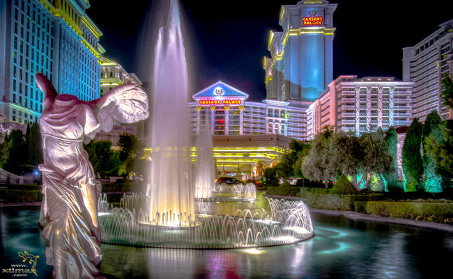 The fountains late at night on a warm summers eve.... Caesarspalace Fountain Illuminated Las Vegas Multi Colored Night Travel Destinations Water