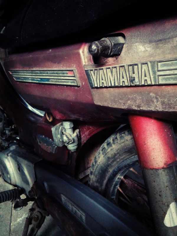 My old friend :-) Old Car First Eyeem Photo Oldtime Retro Style Motorcycle Yamaha Yamahamotorcycle Oldyamaha