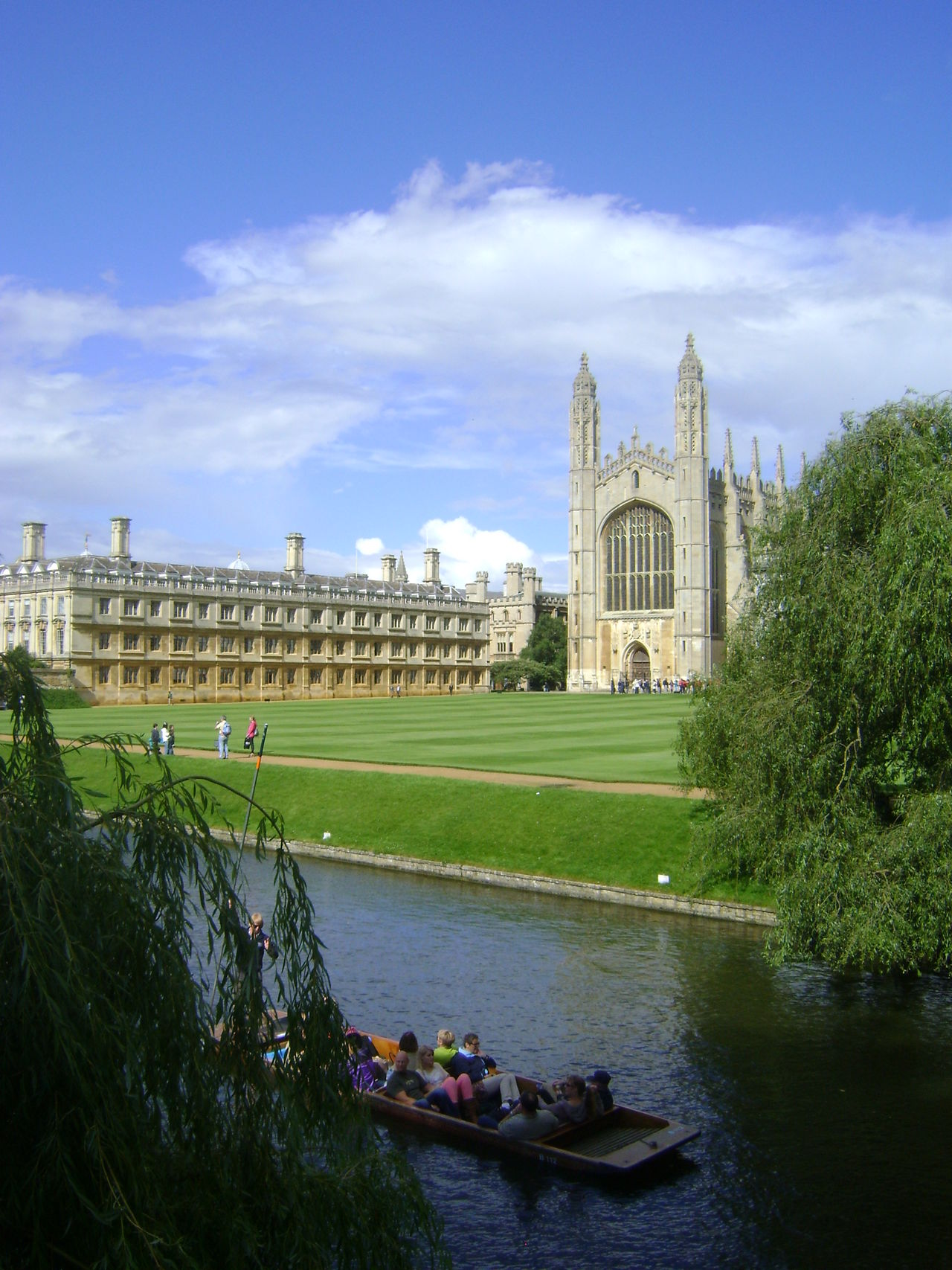 Architecture Built Structure Cambridge Capital Cities  Cloud Cloud - Sky Day Famous Place Grass Green Color Group Of People History King's College Leisure Activity Lifestyles Mixed Age Range Outdoors Sky The Past Tourism Tourist Travel Destinations Tree Unrecognizable Person Vacations