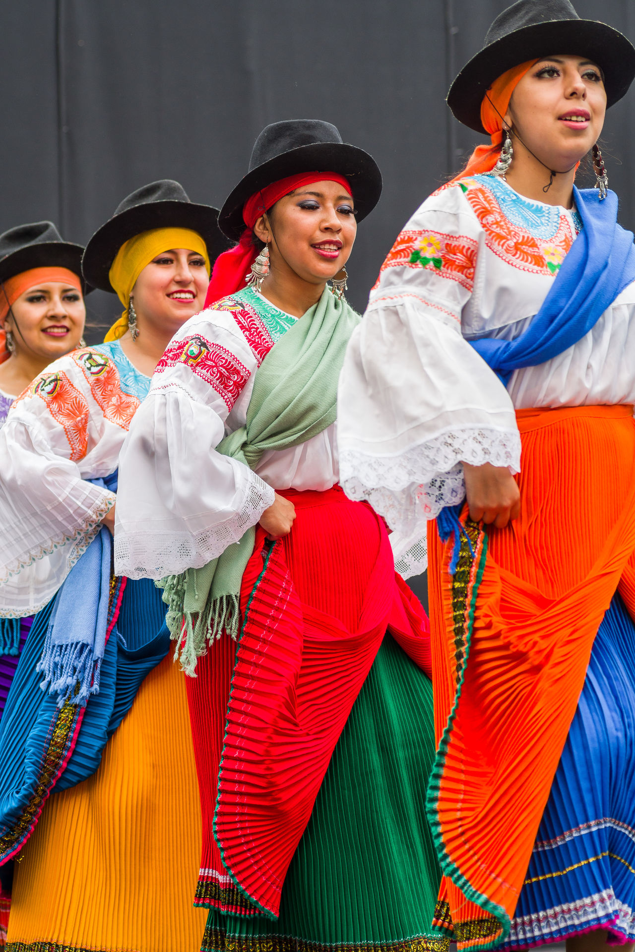 Westerlo Festive Young Women Dancers Dancefest Traditional Clothing Ecuador Young Adult Multi Colored Casual Clothing Culture