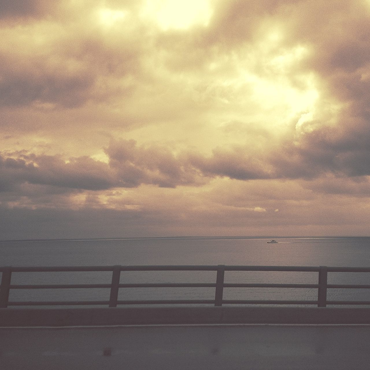 Cloudscape above the Mackinac Island ferry | edited with Viewmatic Viewmatic
