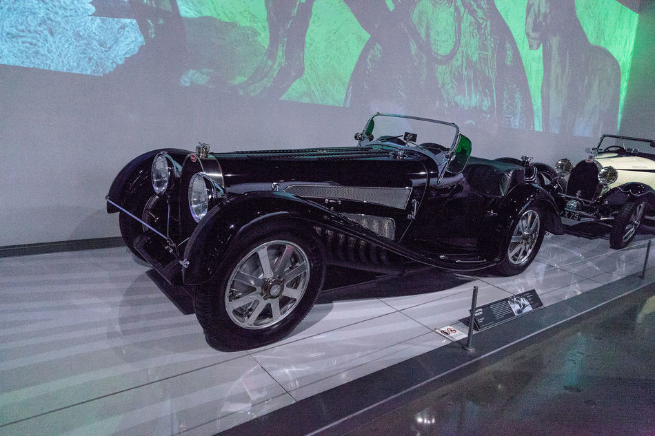 Los Angeles, CA, USA - March 4, 2017: Black 1931 Bugatti Type 54 at the Petersen Automotive Museum in Los Angeles, California, United States. Editorial only. 1931 Bugatti Classic Car Day Mode Of Transport No People Old Car Outdoors Petersen Automotive Museum Stationary Transportation Type 54 Vintage Cars
