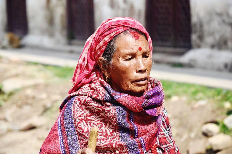 Spirituality Hindu Kathmandu Travel Destinations Nepal Woman Newari