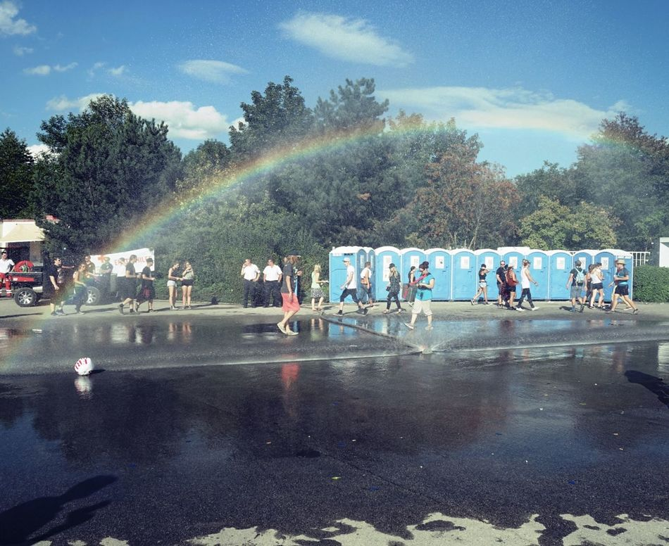 Beauty In Ordinary Things Day Dixie Klo Festival Festival Season Outdoors Rainbow Sky Water
