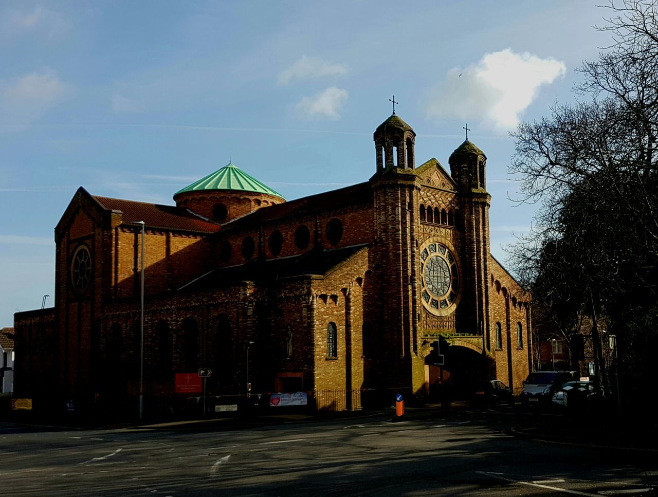 St Osmund's Church, Parkstone UK now renamed St Dunstan's. Church Architecture St Osmund's Church St Dunstan's Church Place Of Worship No People Brick Building Sunlight 🌅🌞 Low Sunlight City Church Crossroads