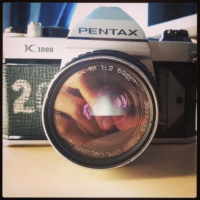 Got this to screw around with this weekend! Pentax K1000 Film Flimasmydadcallsit damnbrownpeoplecanneversayanythingrightblackandwhiteandallthatjazzihateprocessinghashtagwohsscrewwohsloltoomanyhashtags