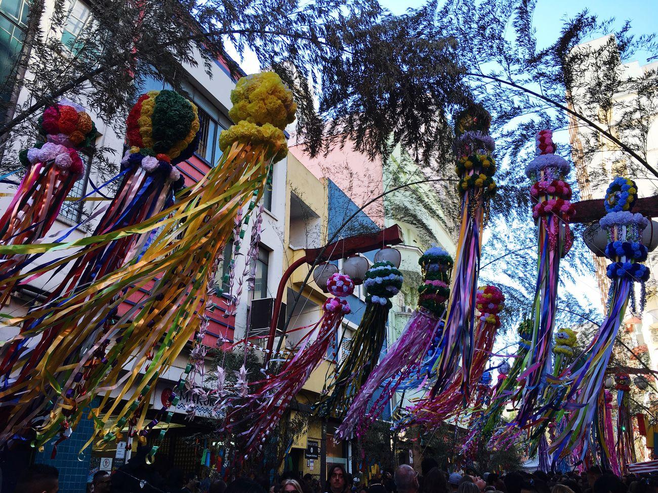 Japanese Style Tanabatamatsuri Tanabata Festival Walking Around The City