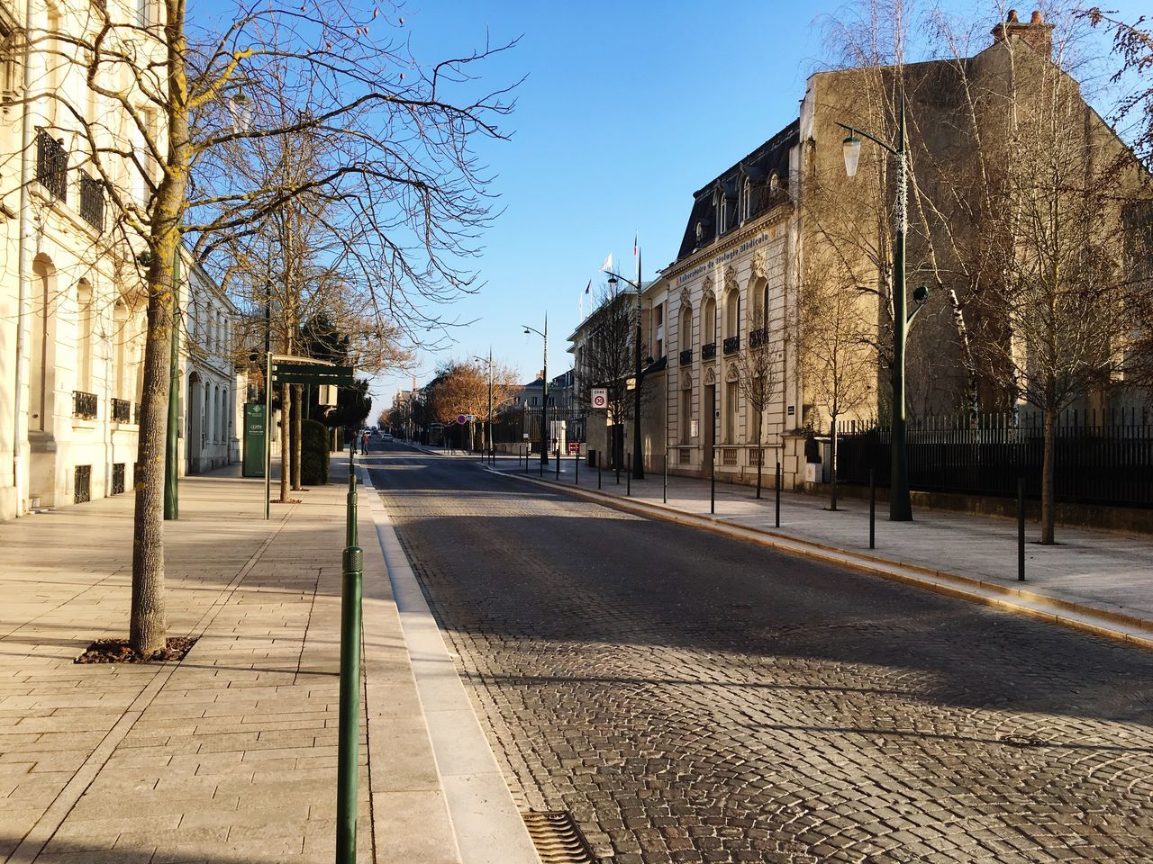 Champagne France Avenue De Champagne January First Eyeem Photo EyeEm New Here Street Building Exterior Day Sunshine Empty Streets Empty Street Epernay