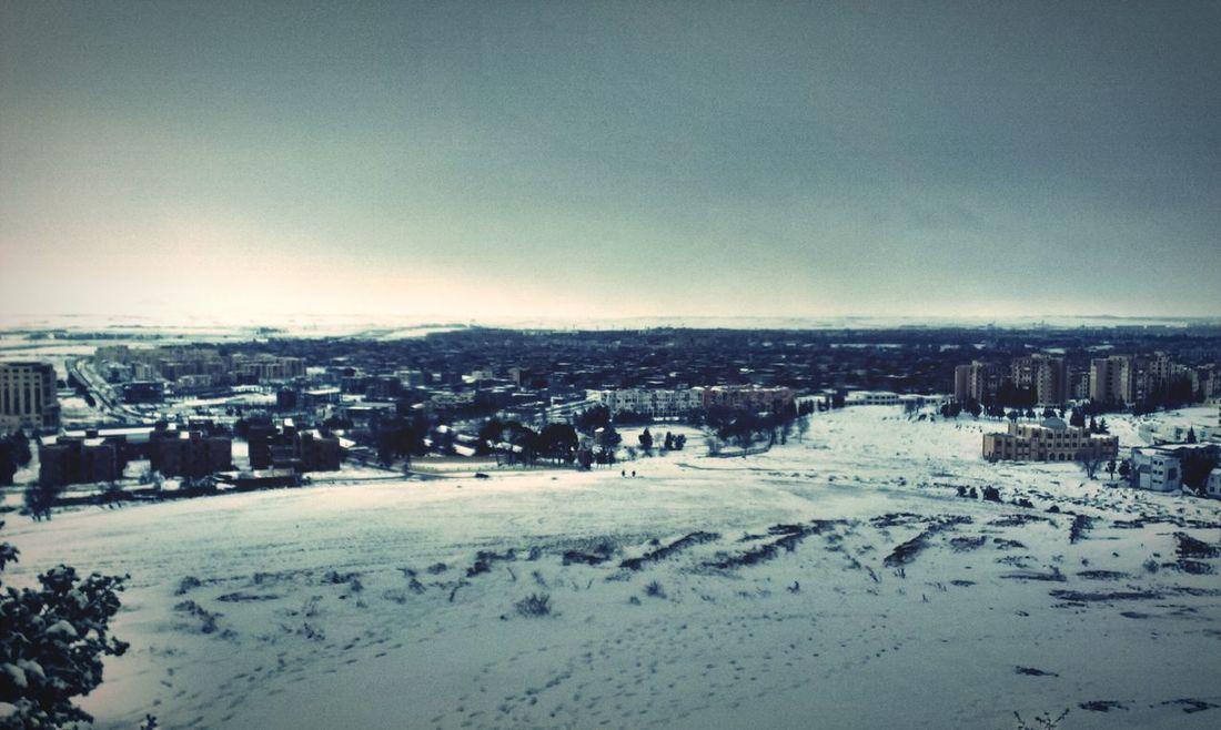 Taking Photos Urban Landscape Snow