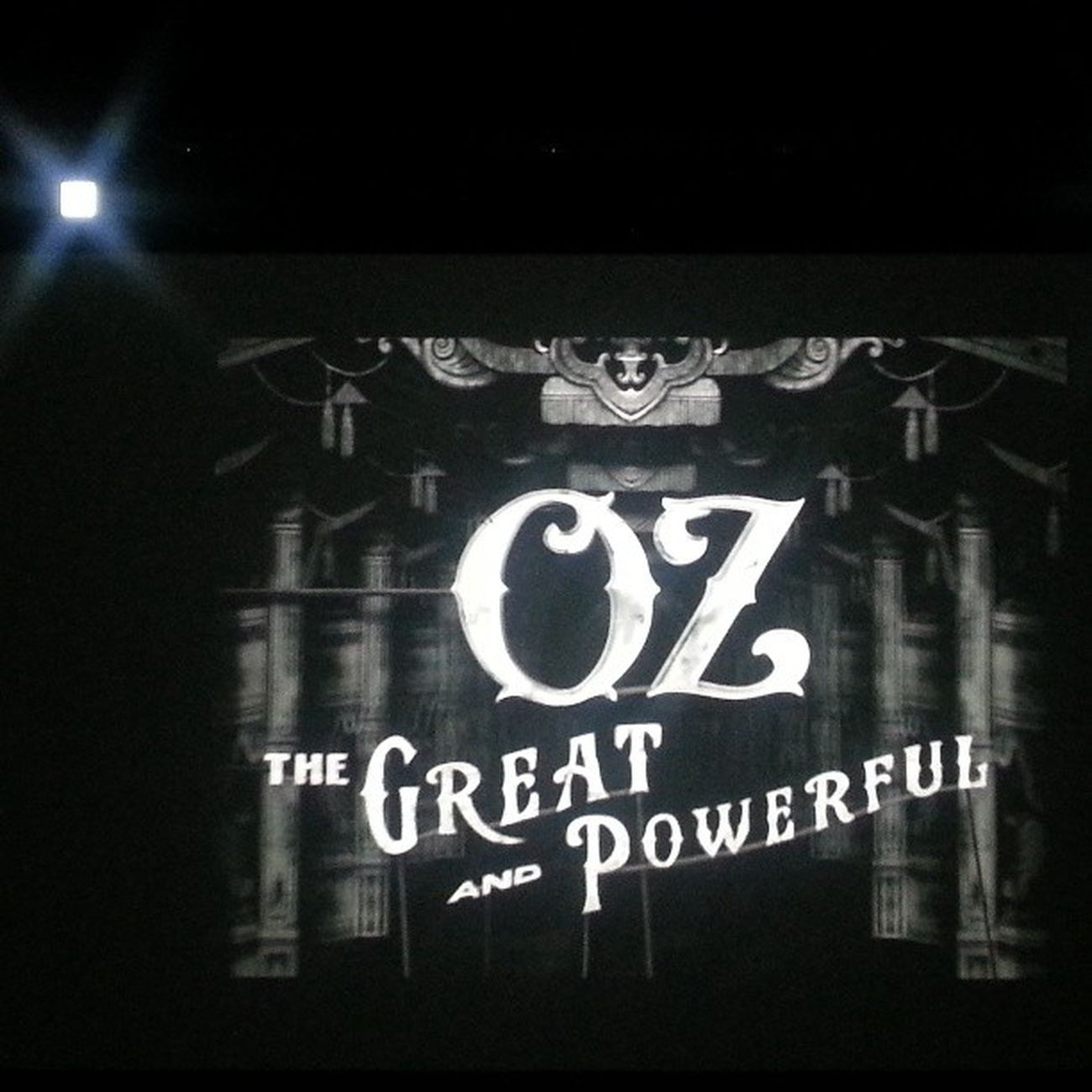 At the Cinema watching Oz the great and powerful Ozthegreatandpowerful