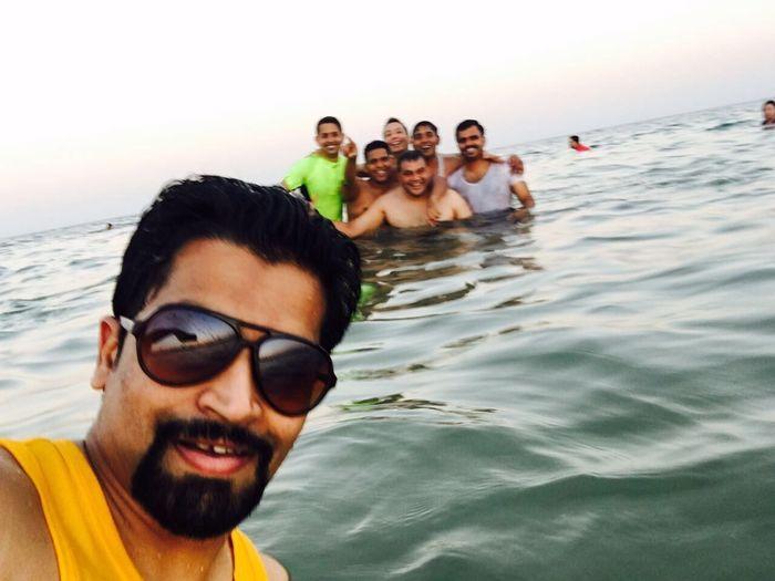 We were in sea line beach Sea