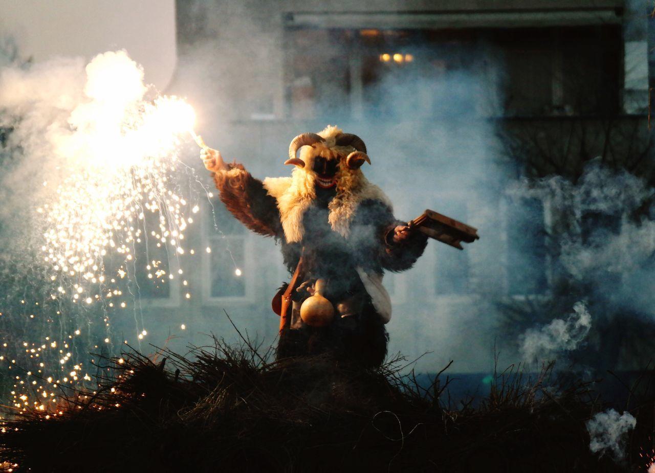 Mohács Busó Hungary Fireworks