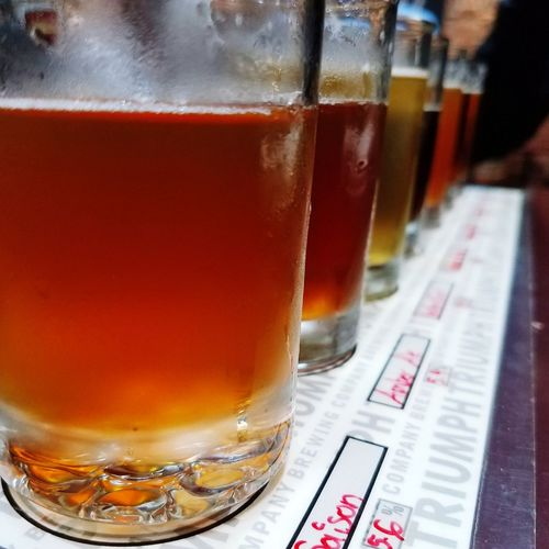 Hitting all the hot breweries Drinking Glass Drink Beer - Alcohol Refreshment Close-up Cold Temperature Food And Drink No People Alcohol Freshness Indoors  Frothy Drink Day Brewery Brewerylife Flightofbeers Happy Hour Craft Beer Bar - Drink Establishment Beer Glass Good Times Princeton Princeton University Triumphbrewery
