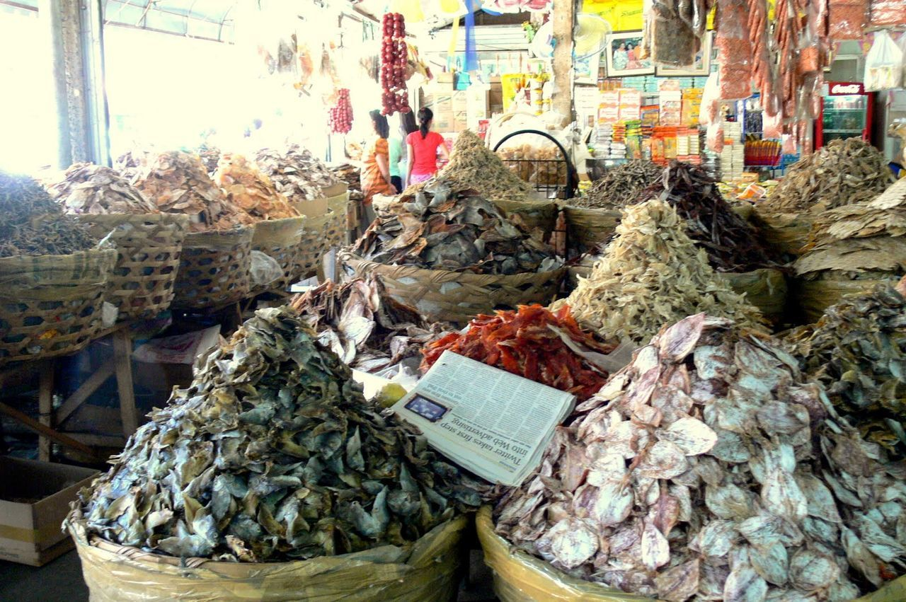 Abundance Arrangement Choice Day Dried Fish  Fish Food Food And Drink For Sale Freshness Heap Large Group Of Objects Market Market Stall No People Repetition Retail  Sack Variation