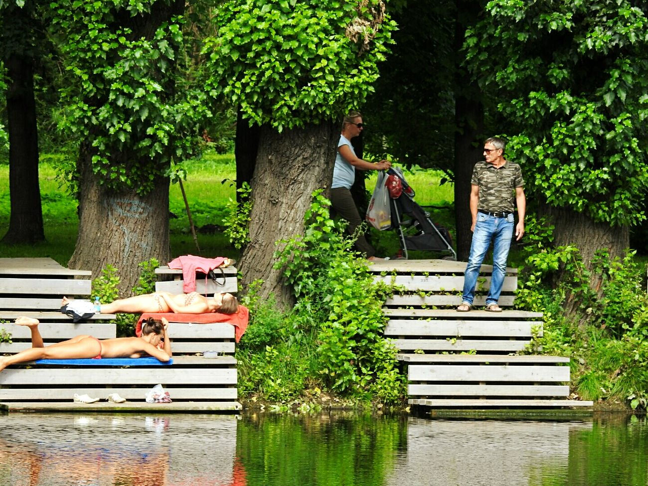 Hello World Hello Girls :) Lookingman Sankt-Petersburg Enjoying Life Russia Tavrichesky Garden Sunny Day 🌞 Summer ☀ Very Hot