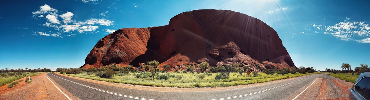 Australia Australian Landscape Uluru Ayers Rock Ayers Rock National Park Australia & Travel Landscape Sky Outdoors Day Panorama Panaramic Panoramic Photography IPhoneography