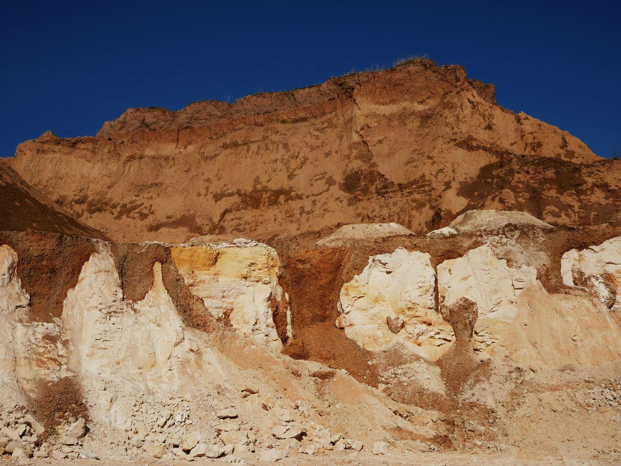 Desert Sand Dune Sand No People Day Outdoors Nature Riemst Cliff Tranquility Beauty In Nature Landscape Zichen Zussen Bolder Blue Sky