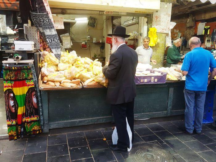 Mahane Yehuda Market Bowls Israel Jerusalem Orthodoxy Religion Orthodox Jerusalem Israel Orthodox Jews Jerusalem❤ Taking Photos orthodox jew shopping for bread at the market