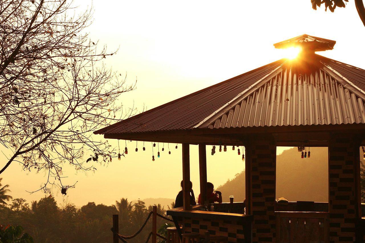 Coffee and the golden sunset... Sunset Silhouette Hangout Humaninterest Wonderfulindonesia