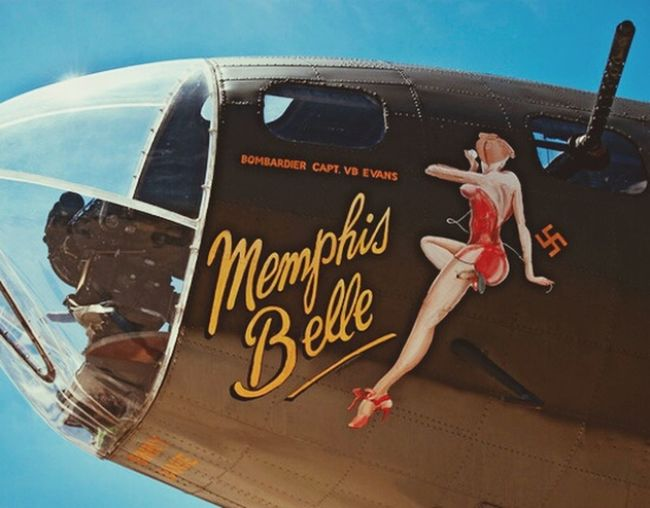 WwII Airplane Bombshell Pinup WWII Planes Pose