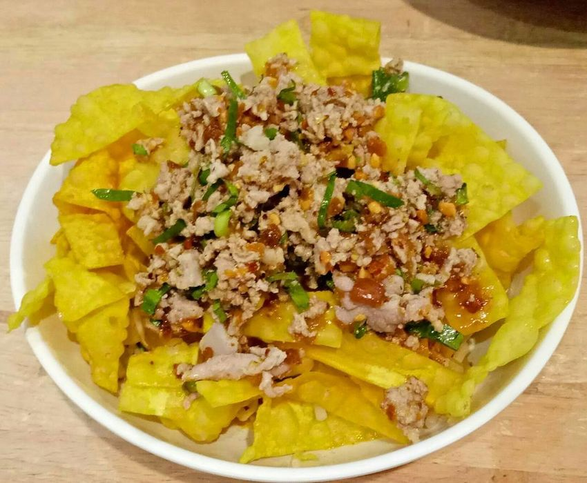 Yum Dumpling  Food Food And Drink Freshness Healthy Eating Pork Chops Ready-to-eat Salad Yellow หมู