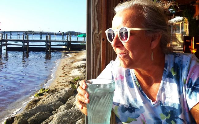 At Breakfast Nice Place To Eat What A Place! Kathy Sunglasses Reflections Reflections In Sunglasses Indian River Lagoon Sebastian, Fl 43 Golden Moments