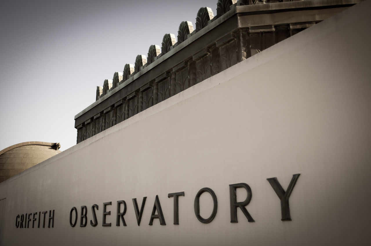 Architecture Building Exterior Close-up Griffith Observatory Observatory Science Sign Travel Destinations