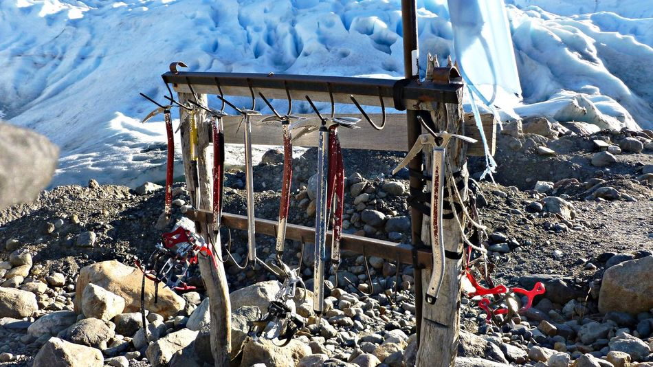Crampons Day Glacier Mountain Nature No People Outdoors Pickaxe Rock - Object Rocks