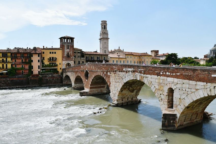 Bridge in Verona Architecture Water Travel Destinations Old Ruin Built Structure City Bridge - Man Made Structure No People Verona Italy River View Bridges Bridge Over The River Vacations Connected By Travel