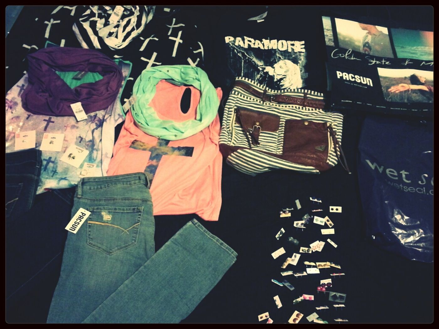 Splurged a tad bit at the mall today. Mall Pacsun Wet Seal