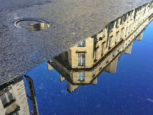 Everything is beautiful in Paris France even drainage water by the roadside Reflection Water Reflections Cityscapes