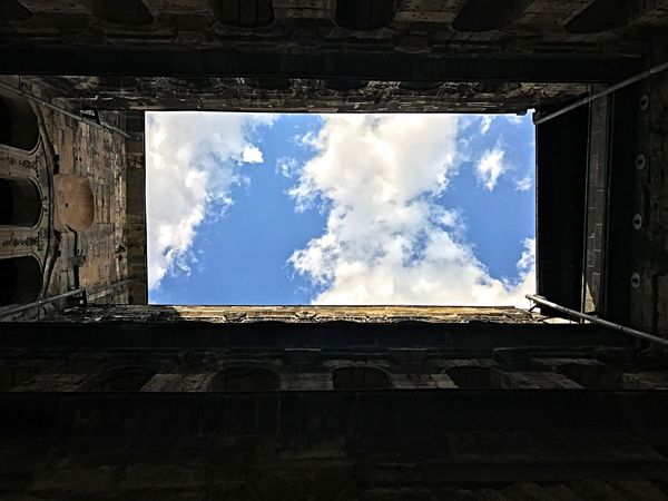 Porta Nigra Cloud - Sky Sky Low Angle View Architecture Window Sunlight Colour Your Horizn No People Building Exterior Built Structure Day History Outdoors