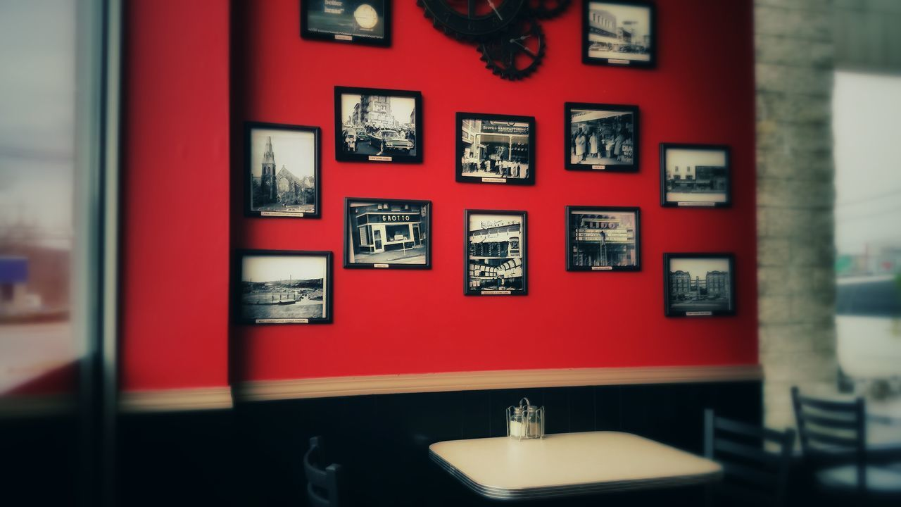 A cute little gast food place my son and I ate lunch in while getting an oil change. Loved this wall for some reason. Food Fastfood Fastfoodtime! Fastfood Joint Lunch Lunch Time! Lunchdate Lunchtime Restaurant Decor Restaurant Restaurants Restaurant Scene Showcase April