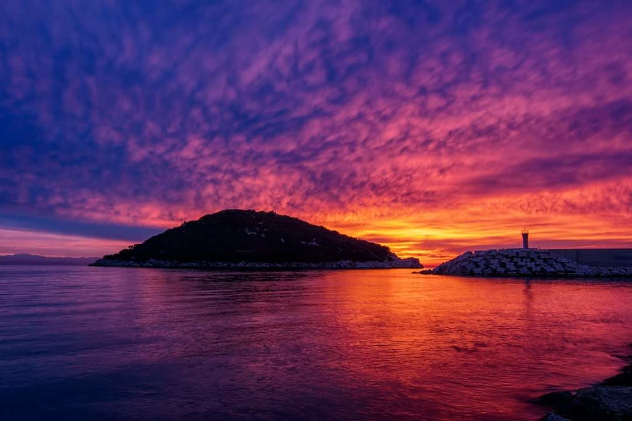 EyeEmNewHere Sunset Nature Sea Cloud - Sky Beauty In Nature Outdoors Idyllic No People Landscape Sky Scenics Dramatic Sky Tranquil Scene Day