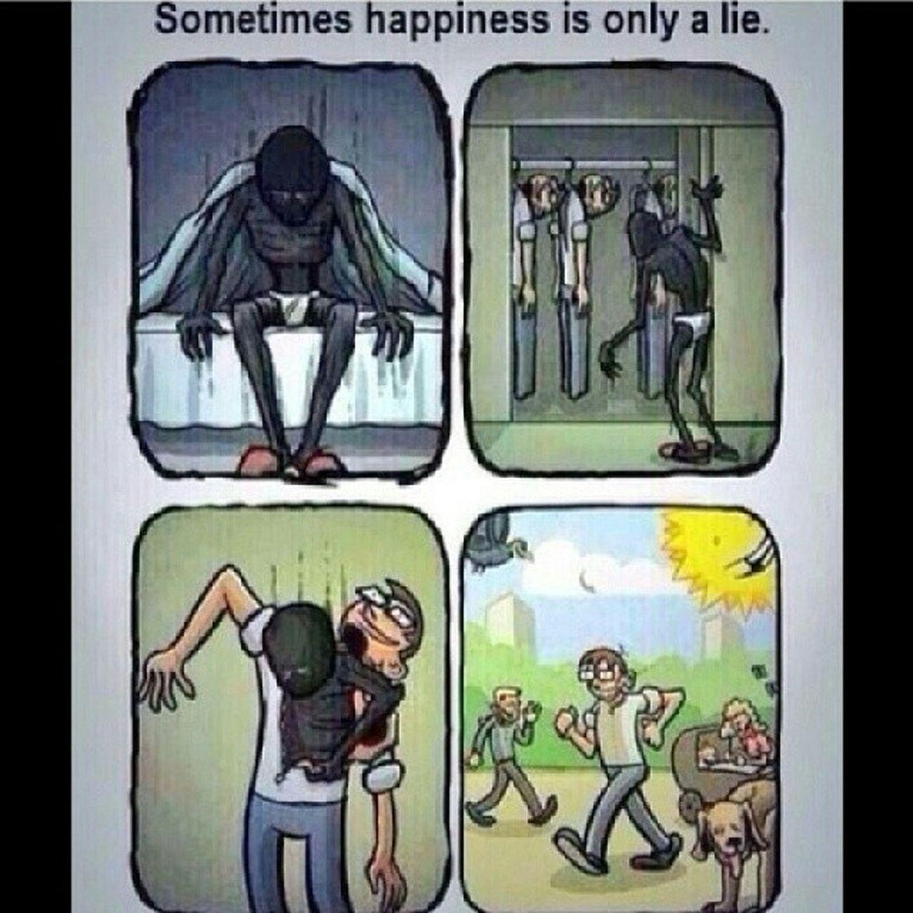 Ás vezes a felicidade é apenas uma mentira! Felicidade Happiness Sadness Mentira lie rotina routine tired
