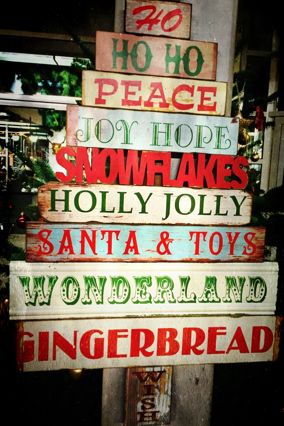 Christmas Time Christmastime Xmas Santa Claus Peace Advent Text Words Gingerbread Santa Hohoho Background Sign Shield Cheerful Colorful Colors Wonderland Holly Joy Happy Vintage Retro Wood Wooden Snow