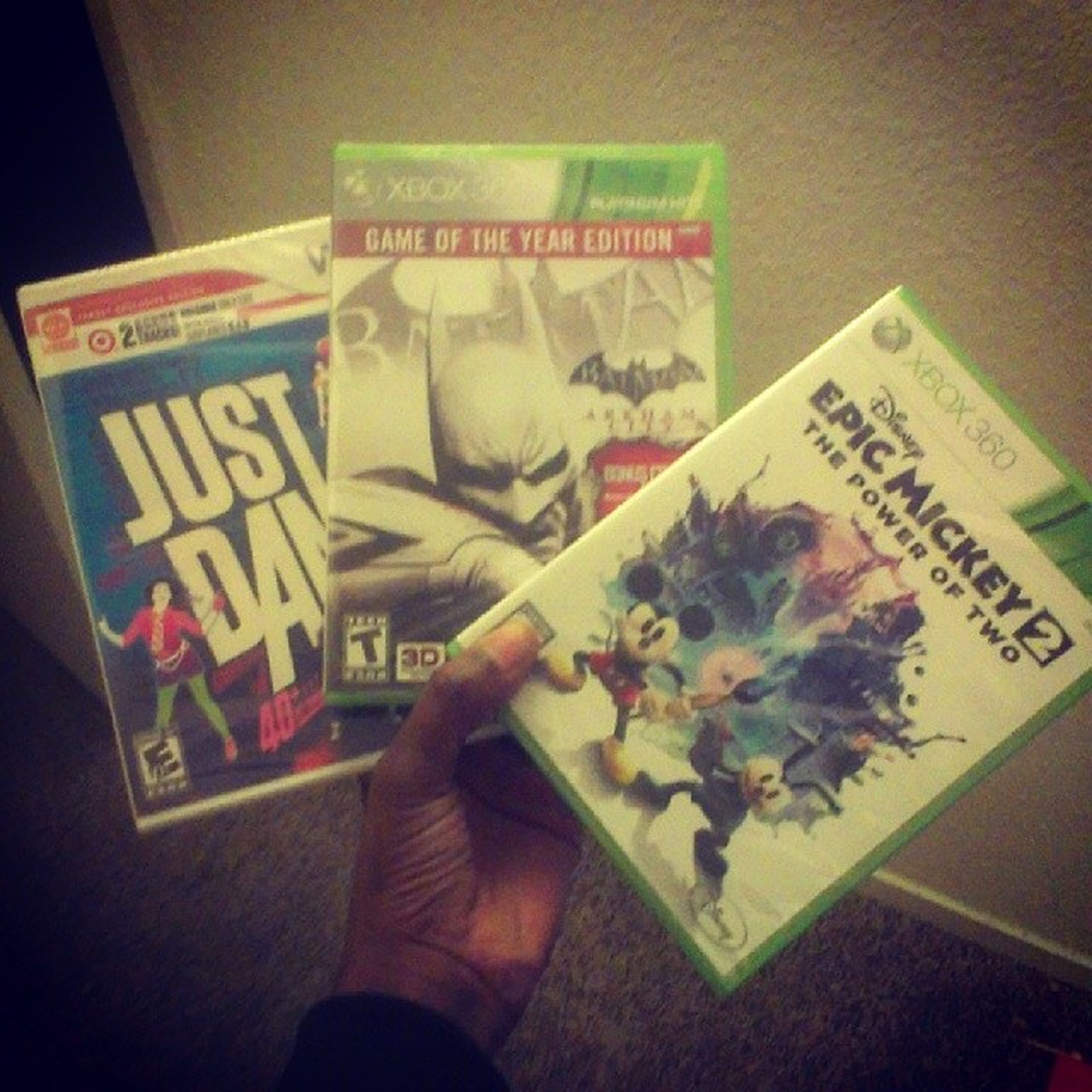 Target had a buy 2 get 1 free sale on #videogames so...#new #games. Xbox New Nintendo Games Videogames ArkhamCity Xbox360 Justdance Wtfgamersonly Justdance3 Epicmickey Epicmickey2