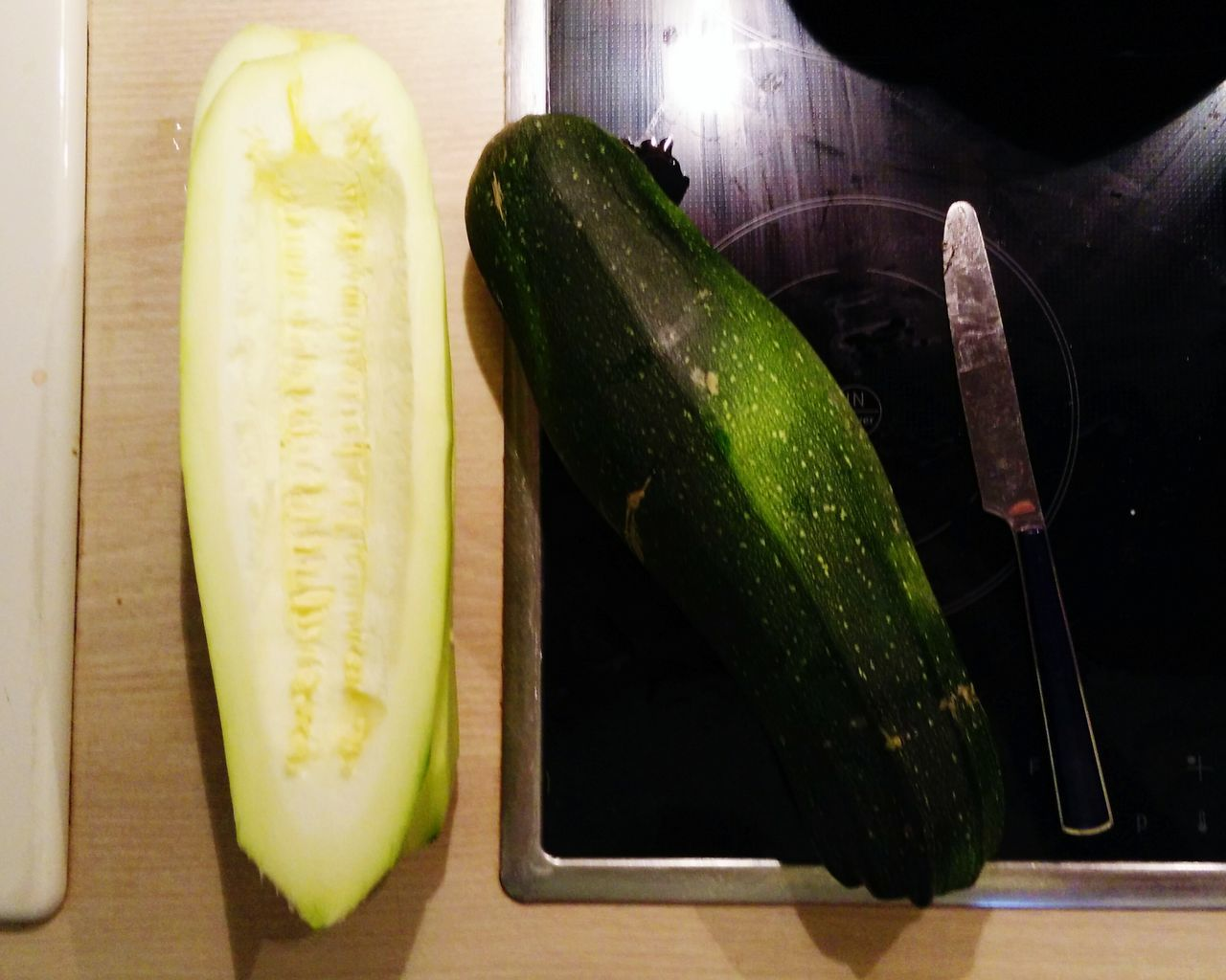 My Mom's Zucchini is Bigger than yours. Bigger Than You Think Freshness Food And Drink Green Color Zucchini Plant