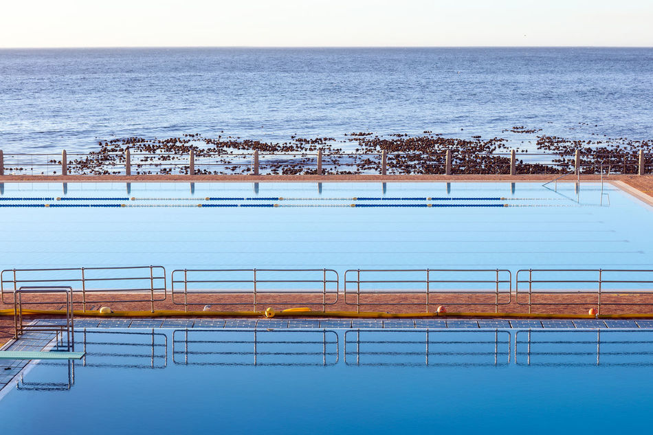 Water Cape Town Day No People Ocean Outdoors Pool Reflection Reflection In The Water Sea Sea View Seapoint Seapoint Baths Seapointpromenade South Africa Sunset Swimming Pool Water