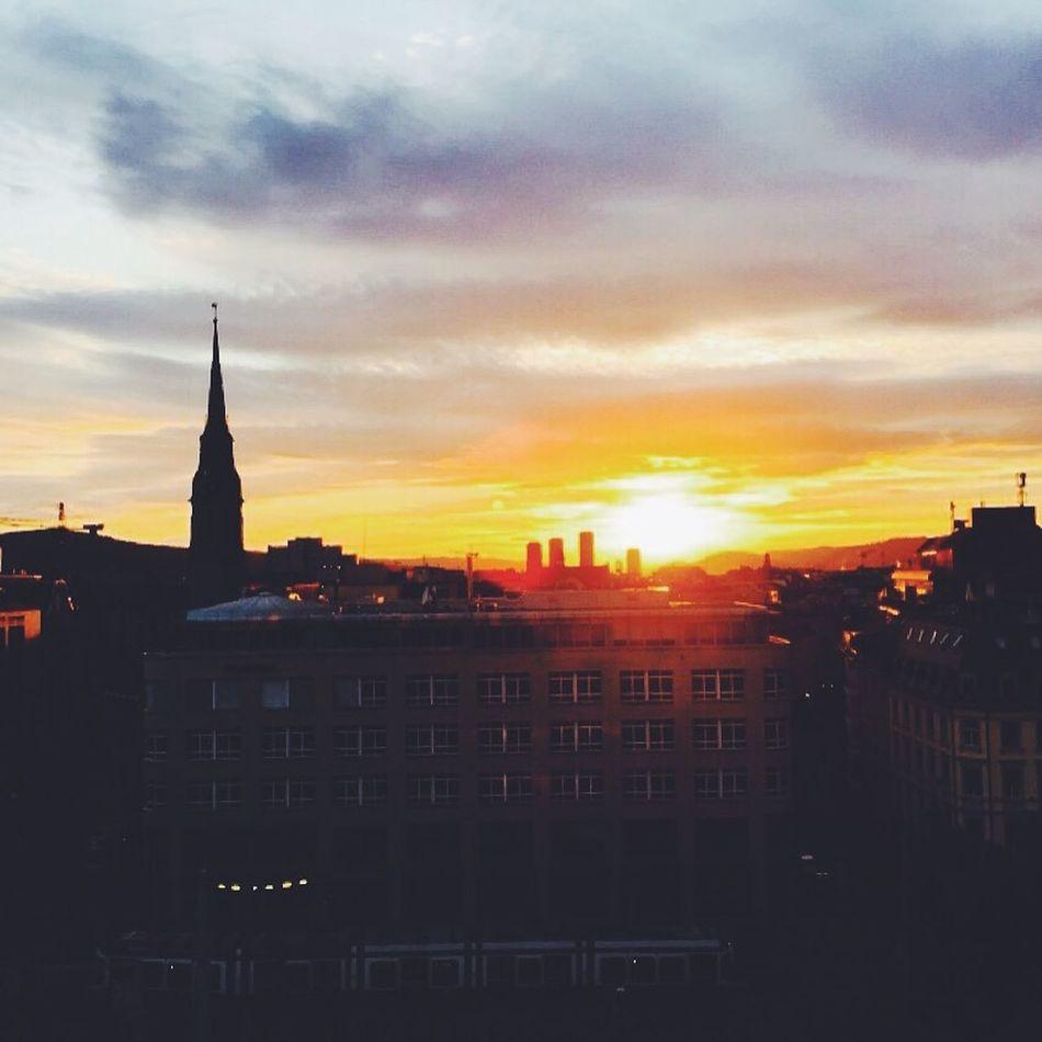 Sunset Sunset Zürich Switzerland Myswitzerland