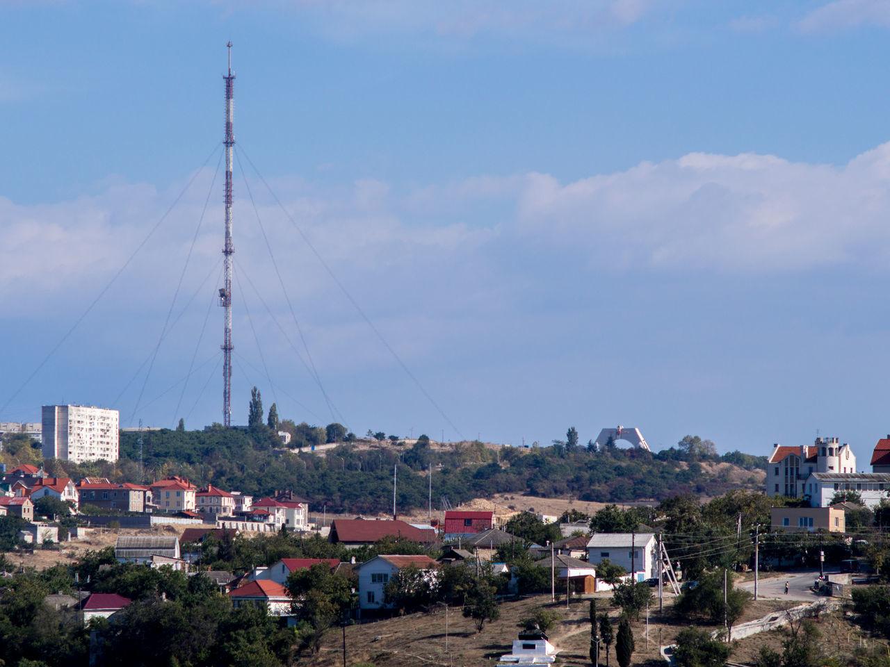 Amusement Park Built Structure City City Landscape City View  Cloud - Sky Crimea Day Gawlet Landscape No People Outdoors Russia Sevastopol  Sky Television Tower Tree
