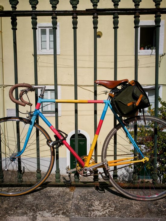 Coloured bycicle Bicycle Mode Of Transport Stationary Transportation No People Old-fashioned Land Vehicle Day Architecture Bicycle Rack Outdoors EyeEmNewHere The Week On EyeEm HuaweiP9 Huaweiphotography HuaweiP9Photography Huawei P9 Leica Huawei P9 Photos Huawei Photography Huawei P9. EyeEm Selects Huawey P9