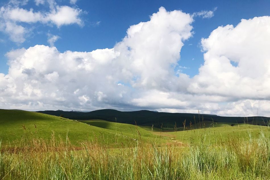 Landscape Sky Nature Cloud - Sky Beauty In Nature Grass Field Outdoors Mountain