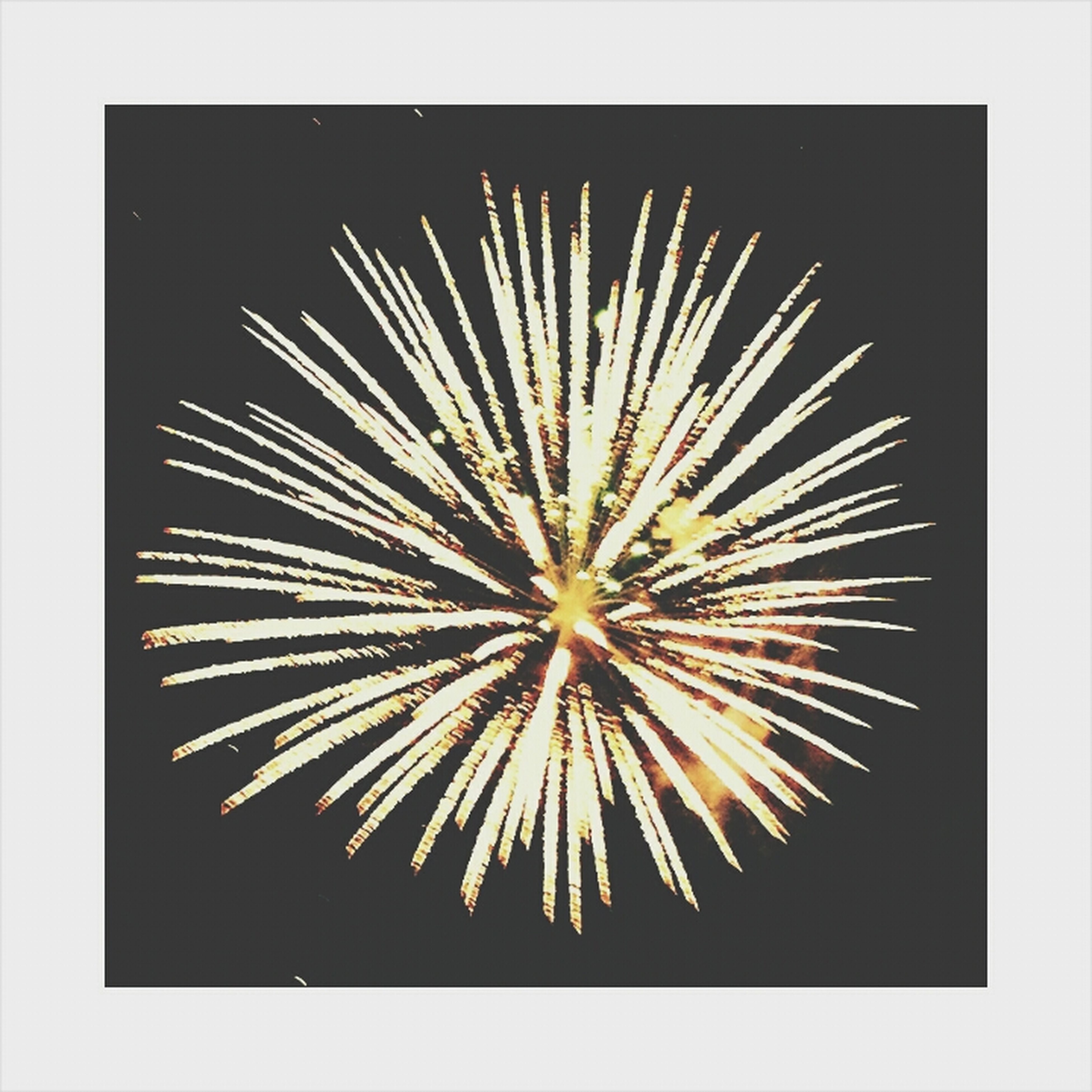 transfer print, celebration, night, illuminated, auto post production filter, exploding, firework display, arts culture and entertainment, glowing, low angle view, firework - man made object, motion, copy space, event, long exposure, sky, no people, sparks, fire - natural phenomenon, studio shot