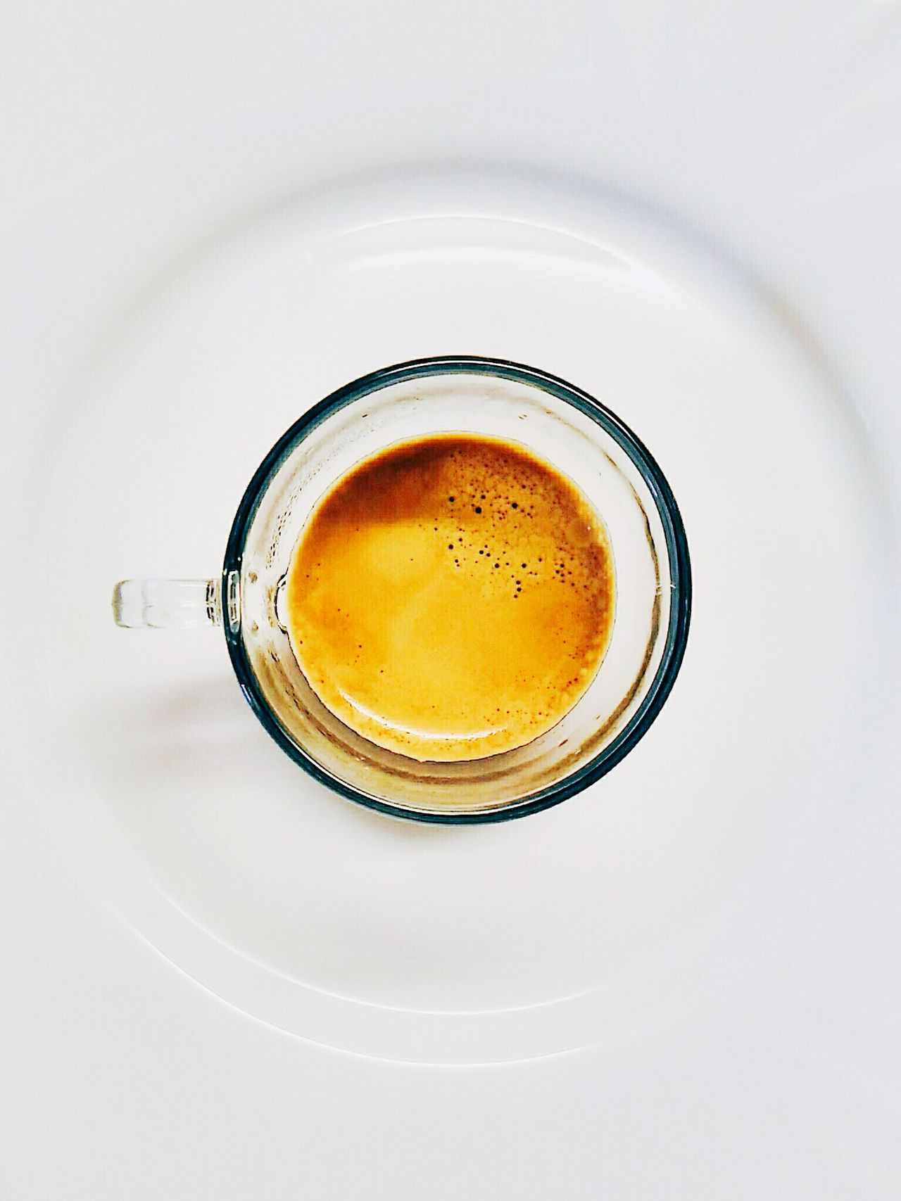 Coffe Espresso Italy Breakfast Foodphotography Coffelovers Food Drink Food And Drink Directly Above Refreshment Circle Indoors  Close-up Still Life Geometric Shape Beverage Freshness Extreme Close-up Full Frame Overhead View White Background Indulgence Studio Shot Extreme Close Up
