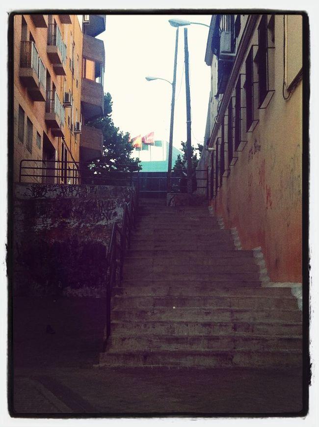 El camino es duro, pero en la cumbre está la recompensa. Así es la vida. Stairs Escaleras PicFeeling Barreras Arquitectónicas