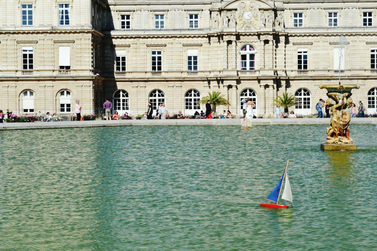 Building Exterior Travel Destinations City Architecture Leisure Activity Toys Sail Boats Sailing Water Paris Jardin Du Luxembourg
