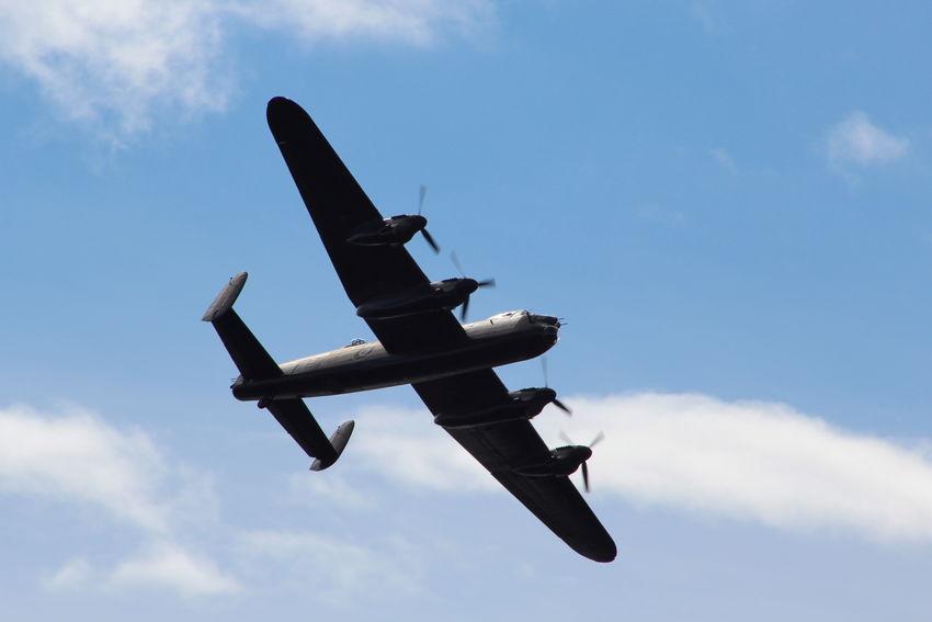 Lancaster Bomber in flyby of Largs,Scotland. Aircraft Airplane Aviation Ayrshire Ayrshire, Scotland Flying Flypast Lancaster Bomber Lancaster Bombers Raf Scotland Scotland 💕 Ww2
