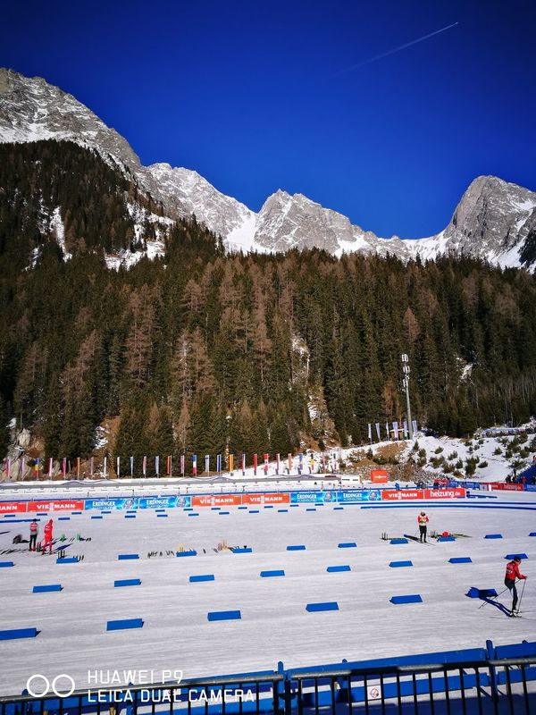 Biathlon Anterselva Mountain Nature Outdoors Austria Clear Sky Alps Mountain Peak Winter