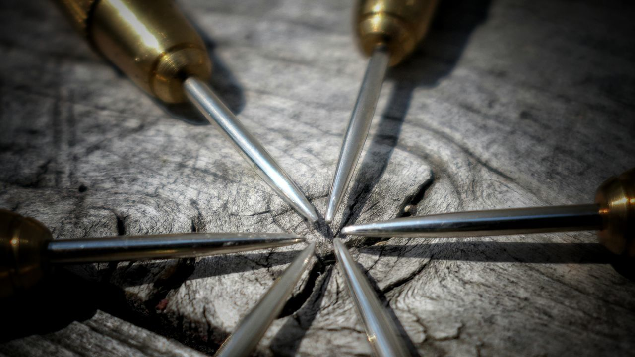 Close-up Of Tools On Wooden Surface